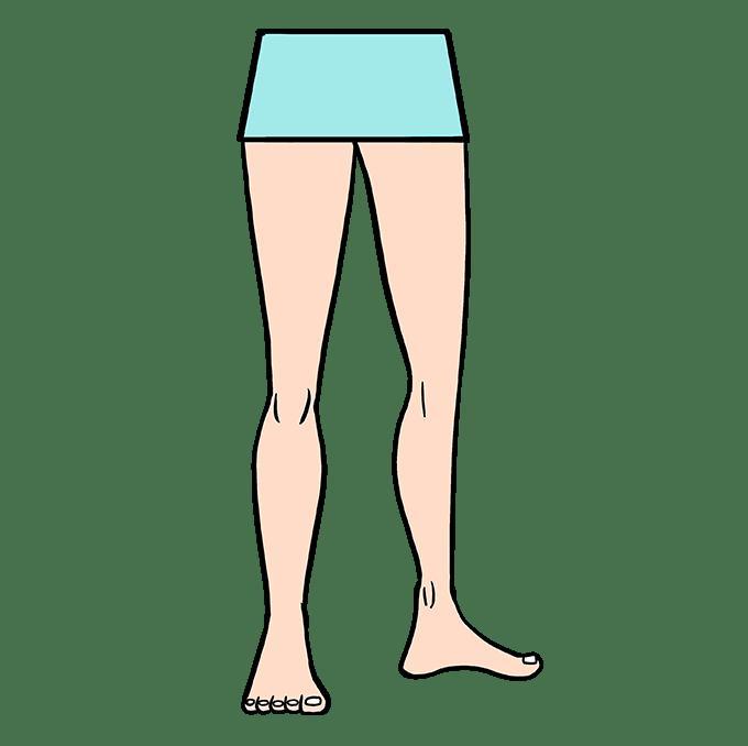 Cách vẽ chân: Bước 10