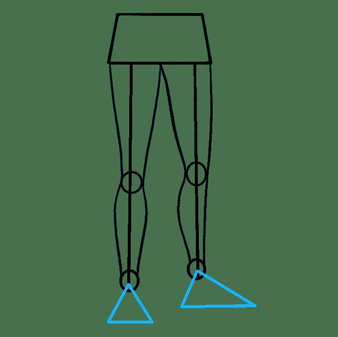 Cách vẽ chân: Bước 6