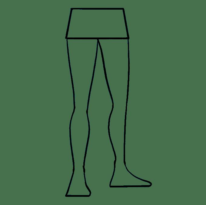 Cách vẽ chân: Bước 8