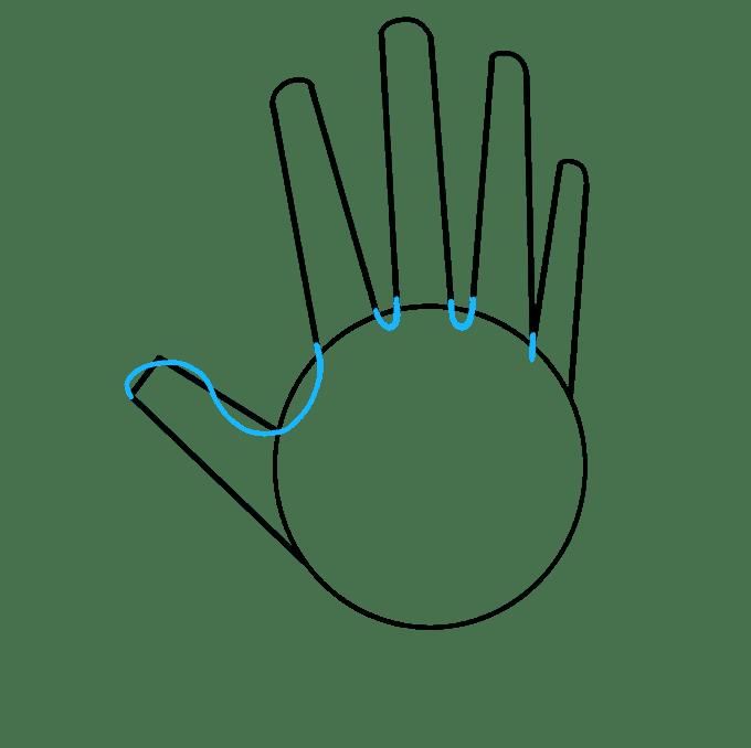 Cách vẽ tay: Bước 3