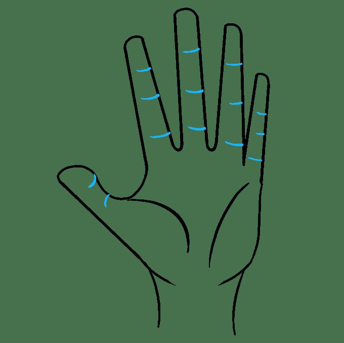 Cách vẽ tay: Bước 8