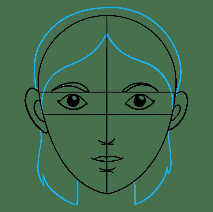 Cách vẽ mặt: Bước 8