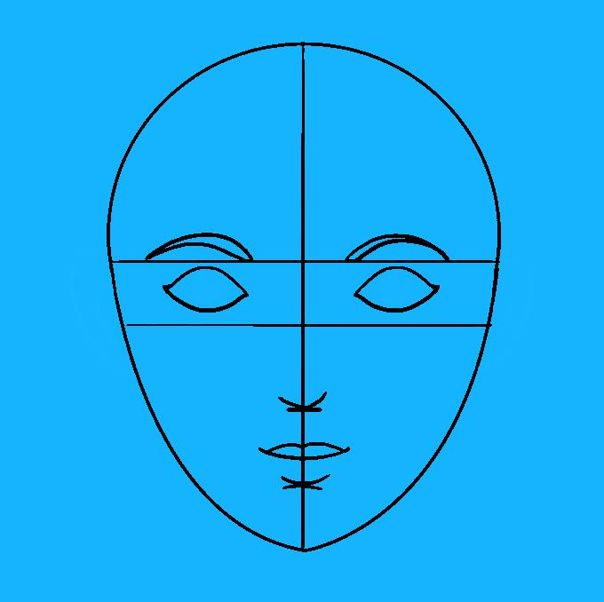 Cách vẽ mặt: Bước 7