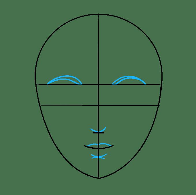 Cách vẽ mặt: Bước 5