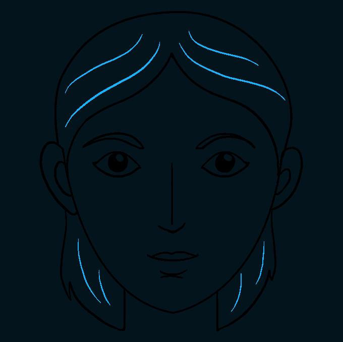 Cách vẽ mặt: Bước 9