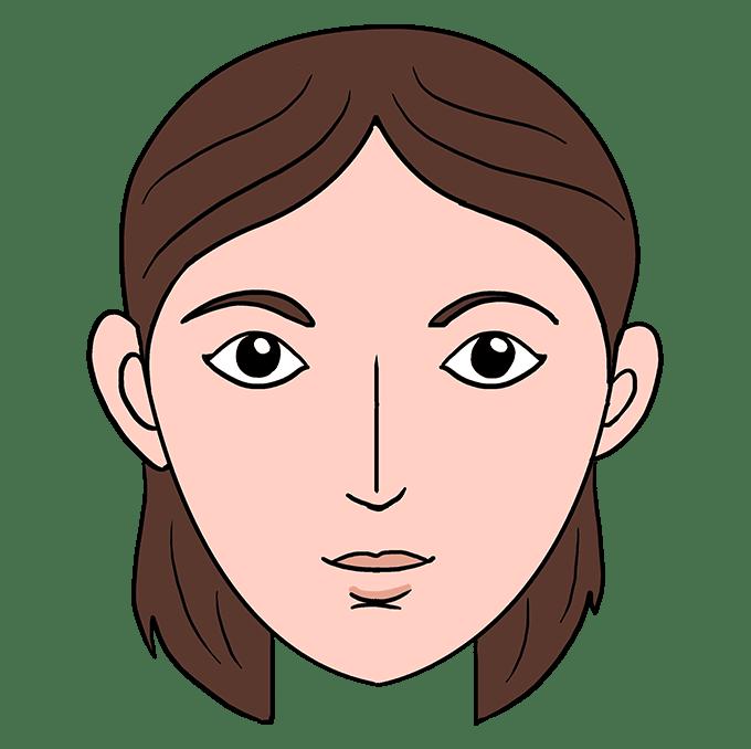 Cách vẽ mặt: Bước 10