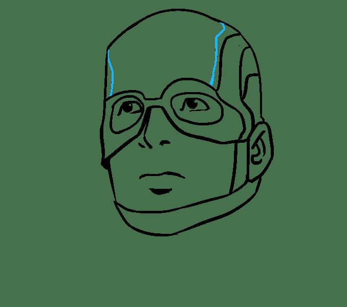 Cách vẽ Captain America: Bước 15