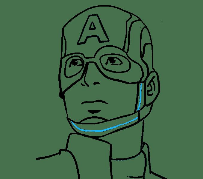 Cách vẽ Captain America: Bước 19