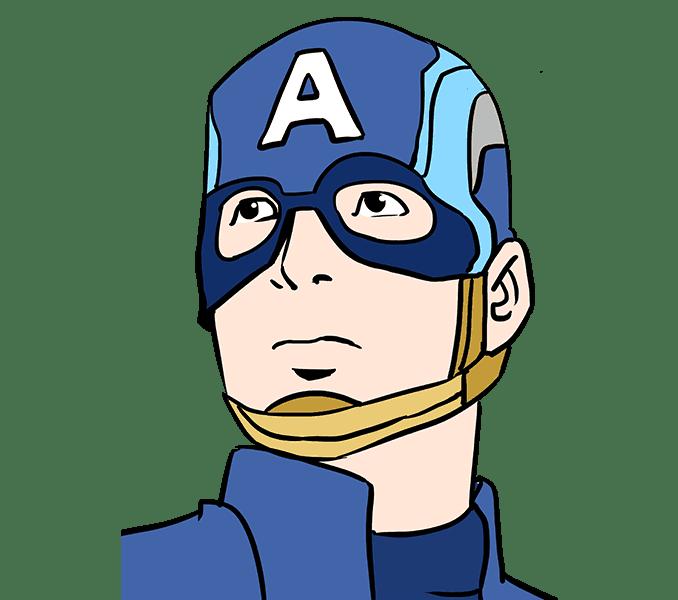 Cách vẽ Captain America: Bước 20
