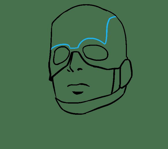 Cách vẽ Captain America: Bước 11