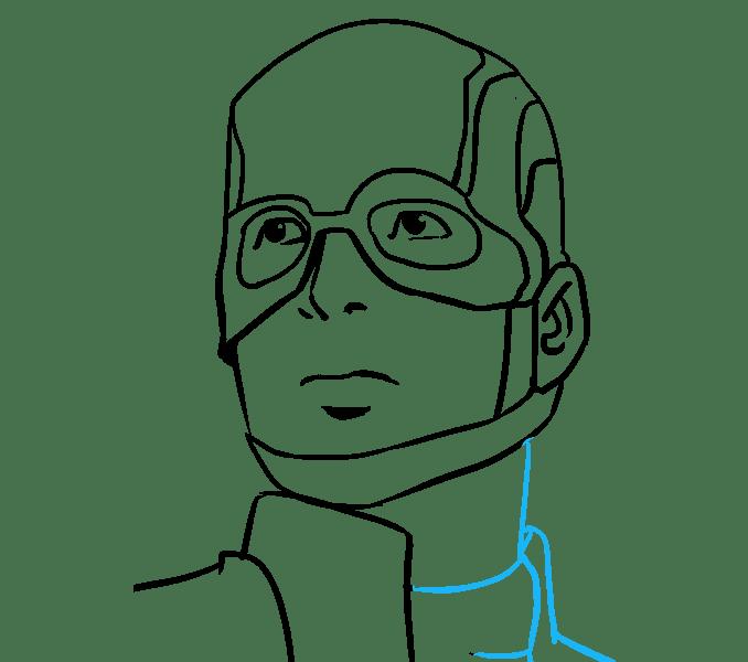 Cách vẽ Captain America: Bước 17