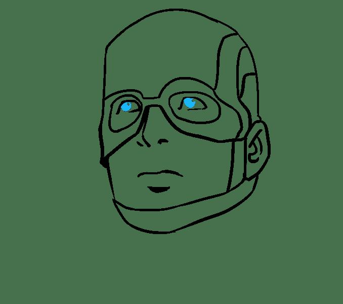 Cách vẽ Captain America: Bước 14