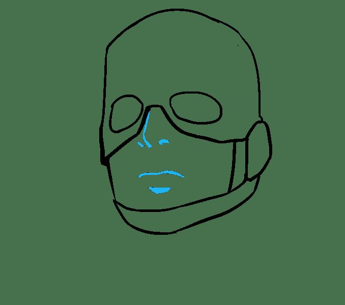 Cách vẽ Captain America: Bước 10