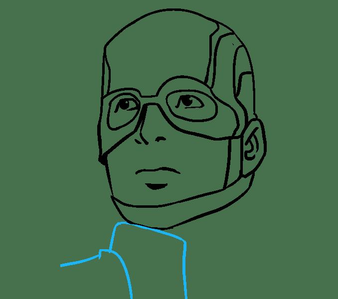 Cách vẽ Captain America: Bước 16