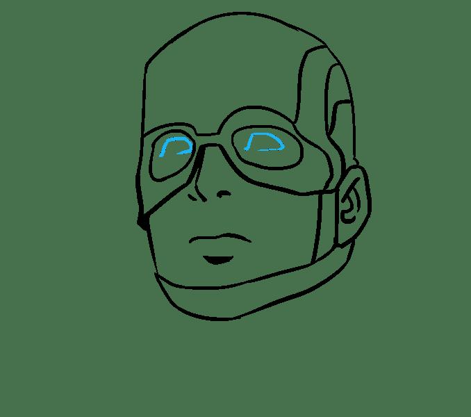 Cách vẽ Captain America: Bước 13