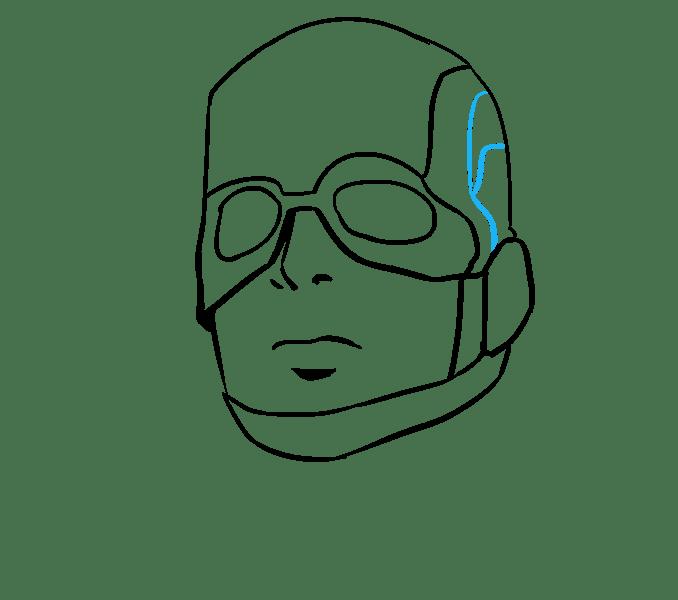 Cách vẽ Captain America: Bước 12