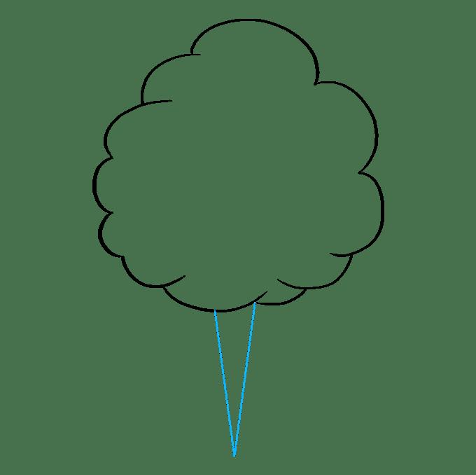 Cách vẽ kẹo bông: Bước 4