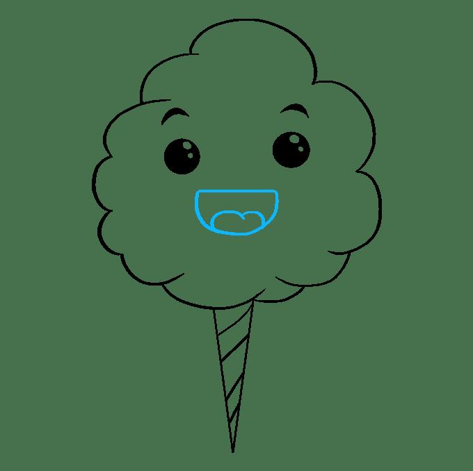 Cách vẽ kẹo bông: Bước 8