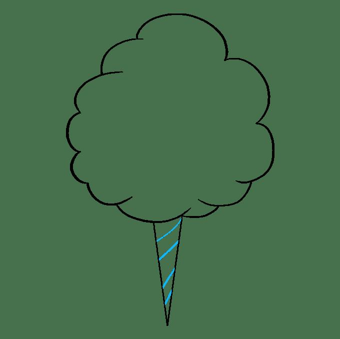 Cách vẽ kẹo bông: Bước 5