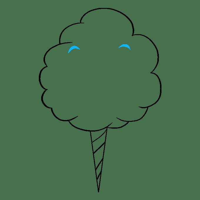 Cách vẽ kẹo bông: Bước 6