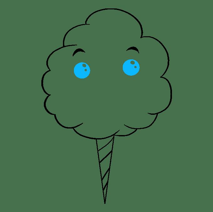 Cách vẽ kẹo bông: Bước 7