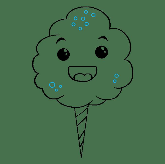 Cách vẽ kẹo bông: Bước 9