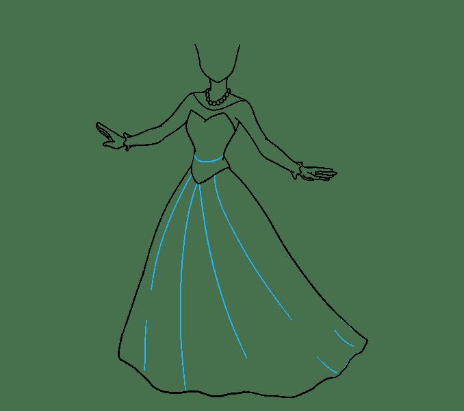 Cách vẽ công chúa hoạt hình: Bước 11