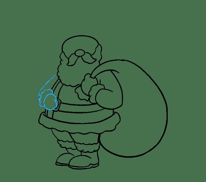Cách vẽ ông già Noel: Bước 15
