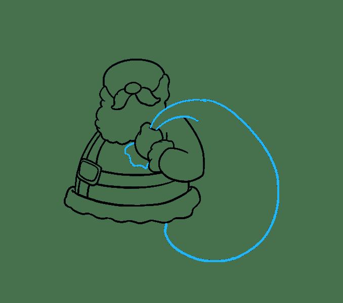 Cách vẽ ông già Noel: Bước 12