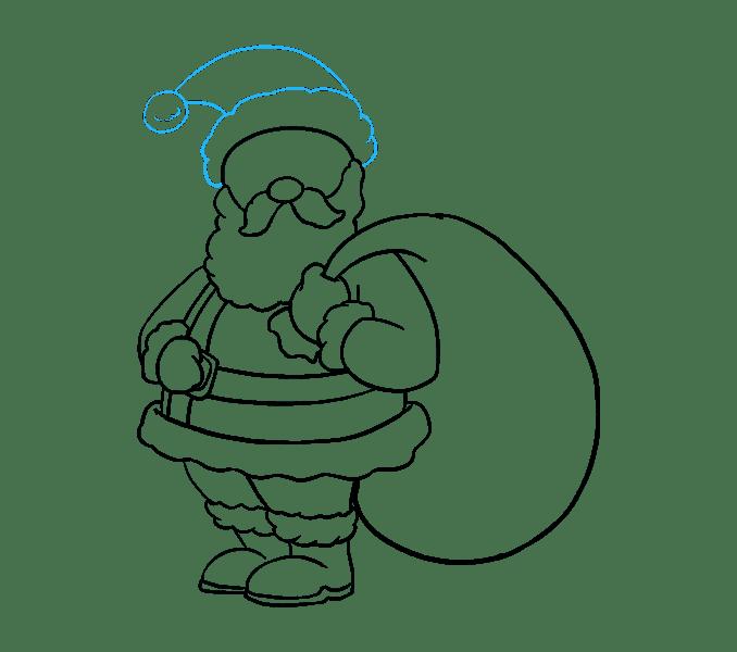 Cách vẽ ông già Noel: Bước 17