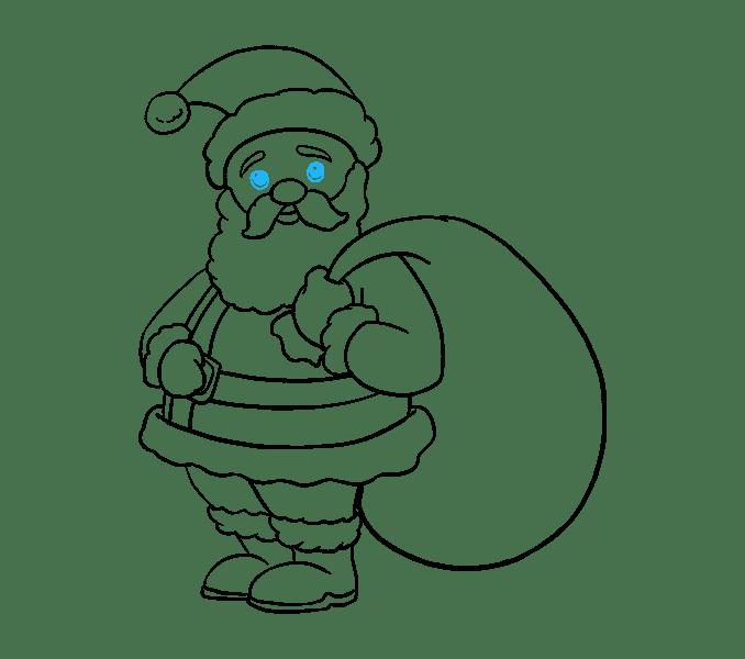 Cách vẽ ông già Noel: Bước 19