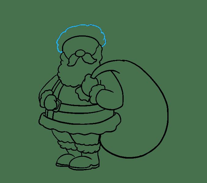 Cách vẽ ông già Noel: Bước 16