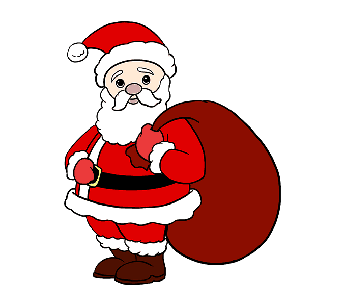 Cách vẽ ông già Noel: Bước 20