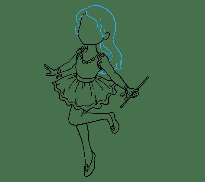 Cách vẽ nàng tiên: Bước 14