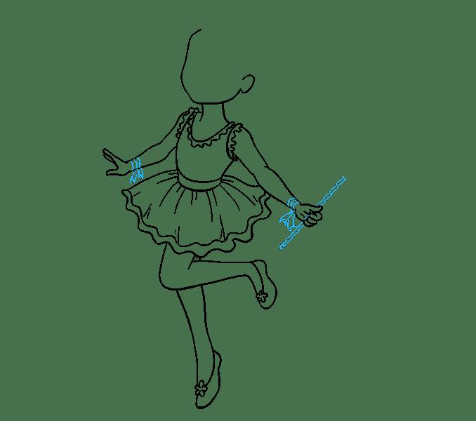 Cách vẽ nàng tiên: Bước 13