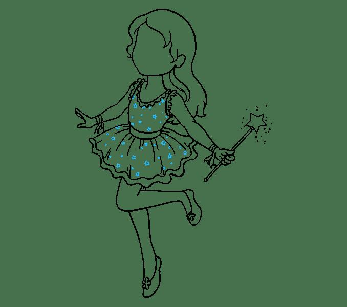 Cách vẽ nàng tiên: Bước 16