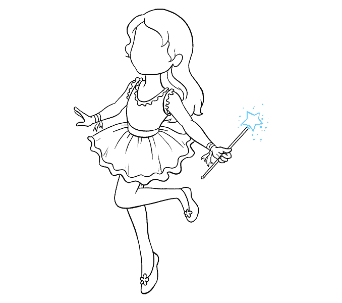 Cách vẽ nàng tiên: Bước 15
