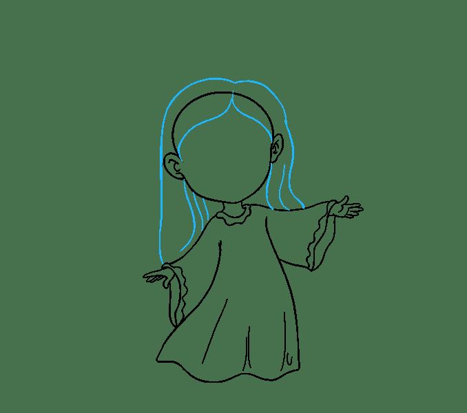 Cách vẽ thiên thần: Bước 13