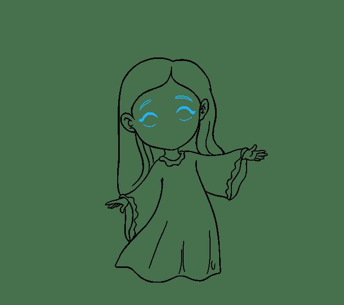Cách vẽ thiên thần: Bước 15