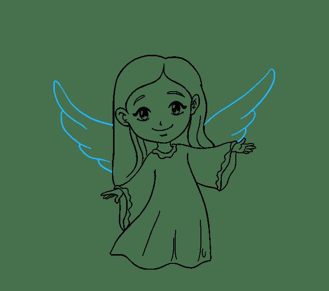 Cách vẽ thiên thần: Bước 17