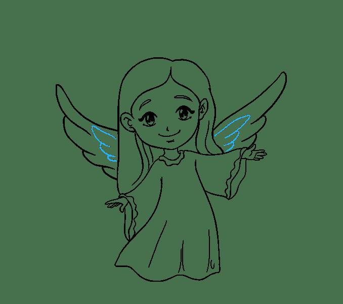 Cách vẽ thiên thần: Bước 18