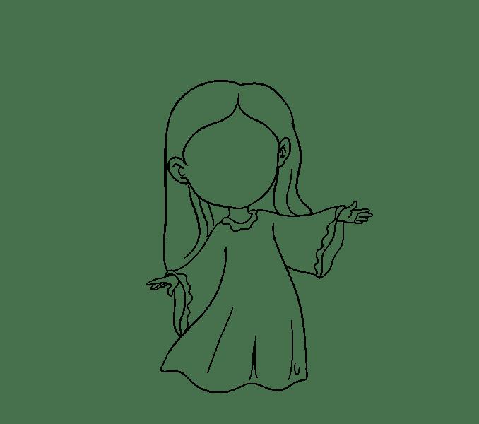 Cách vẽ thiên thần: Bước 14