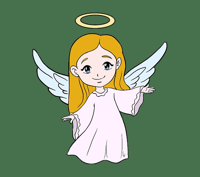 Cách vẽ thiên thần: Bước 20
