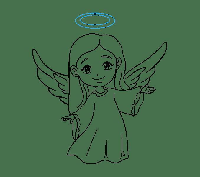 Cách vẽ thiên thần: Bước 19
