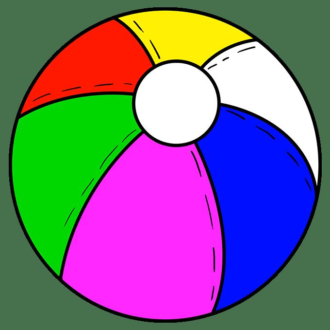 Cách vẽ bóng bãi biển: Bước 10