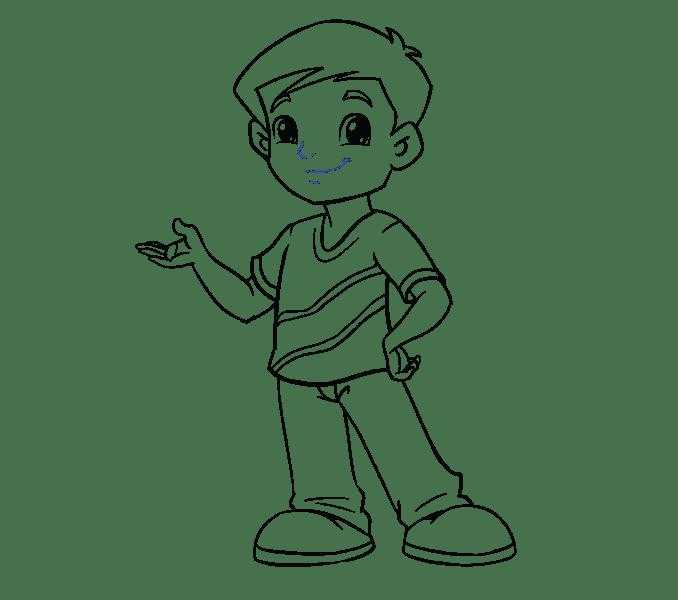 Cách vẽ cậu bé: Bước 19