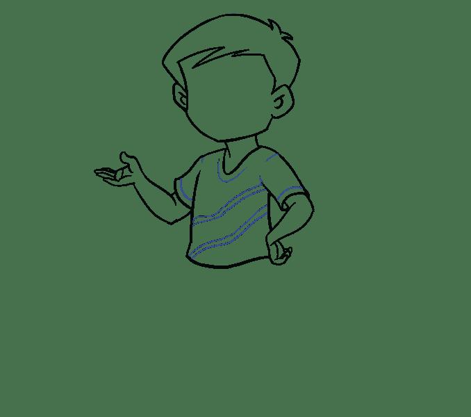 Cách vẽ cậu bé: Bước 12