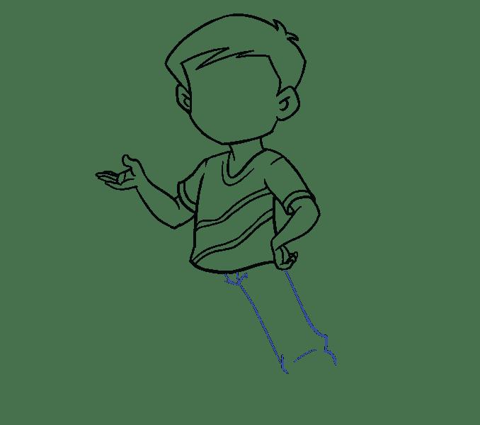 Cách vẽ cậu bé: Bước 13
