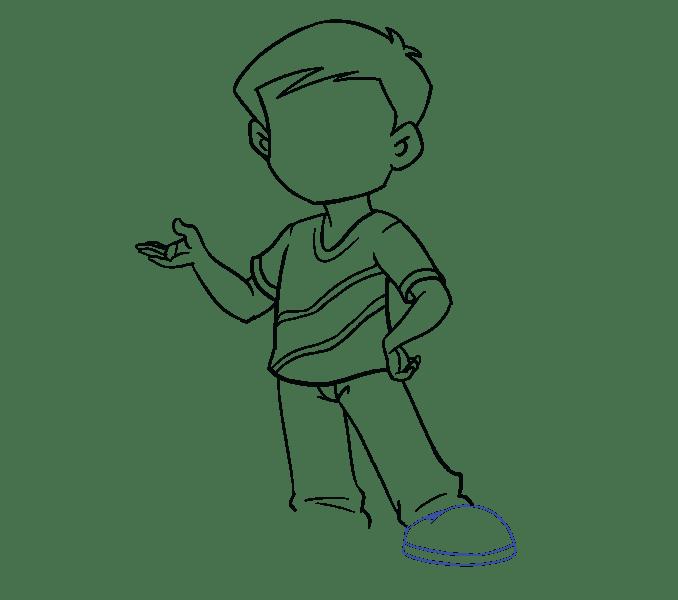 Cách vẽ cậu bé: Bước 15