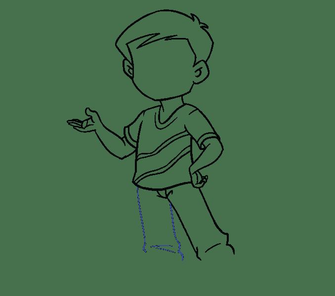 Cách vẽ cậu bé: Bước 14